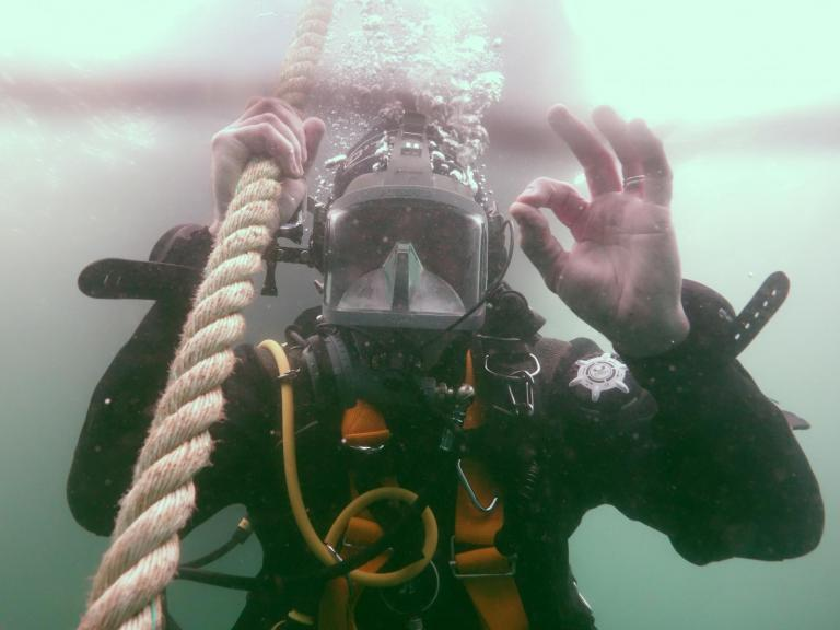 Mental health and wellbeing at Wessex Archaeology - Diver OK