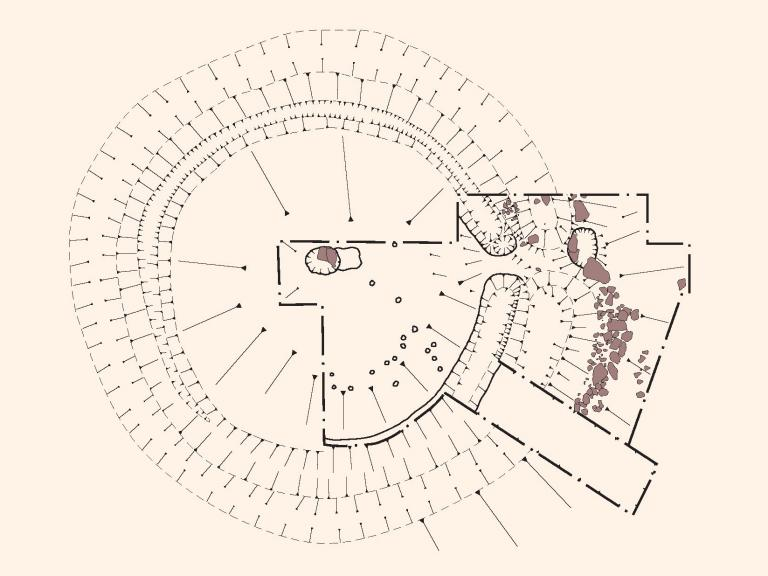 Plan of the excavation of the henge monument