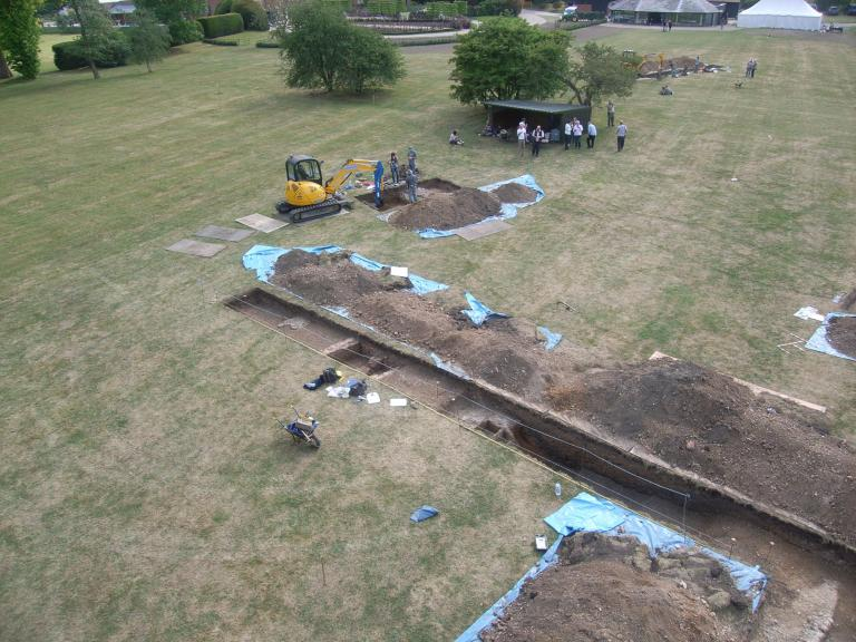 A view of the Colne Priory excavations