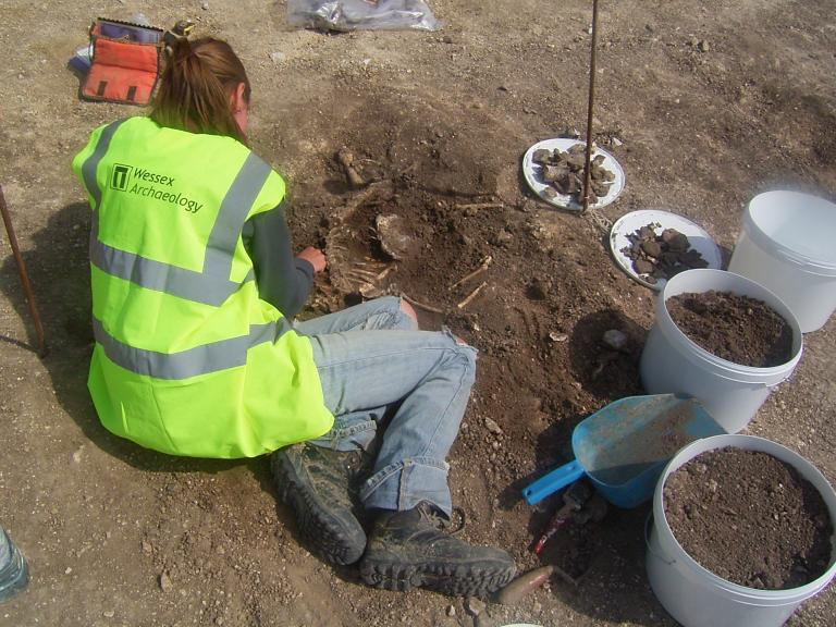 Archaeological excavation at Margetts Pit, Burham, Kent