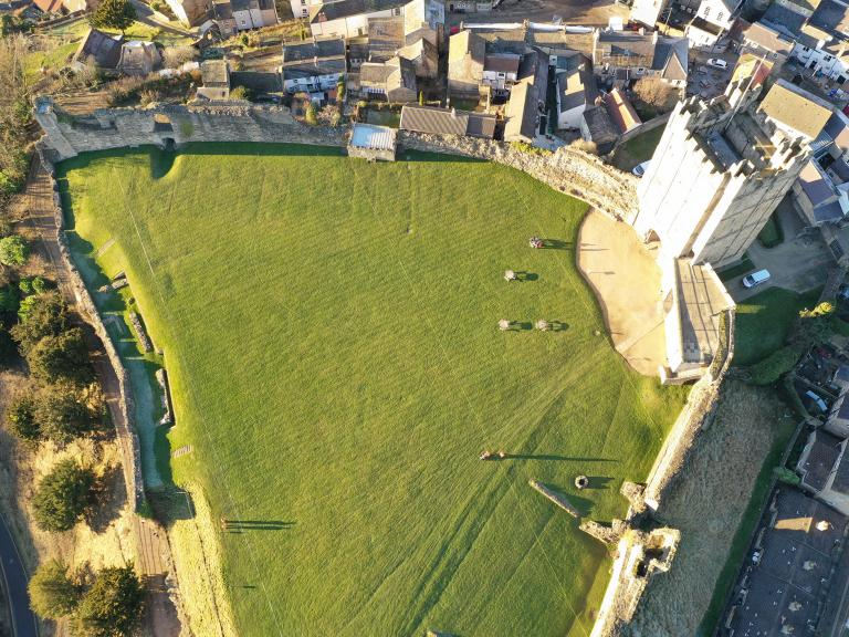Richmond Castle from the air