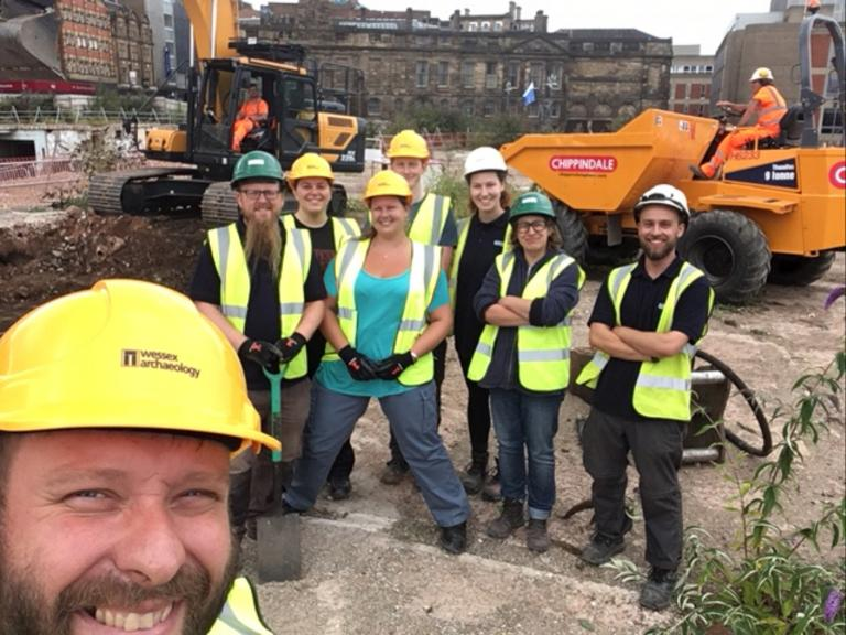 Excavations underway at Sheffield Castle