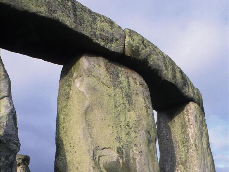 Detail of stones at Stonehenge