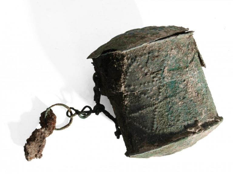 Saxon decorated metal workbox from Tidworth