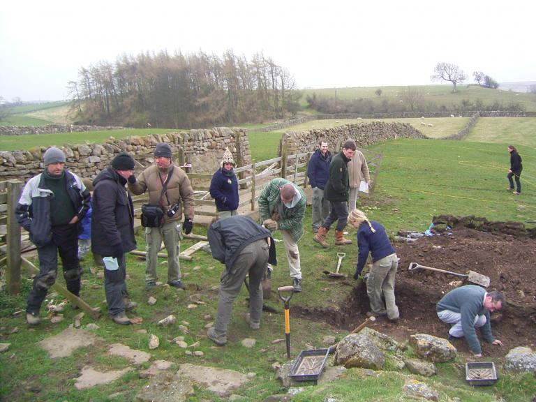 Time Team excavation at Castle Hill Farm, Scargill, County Durham