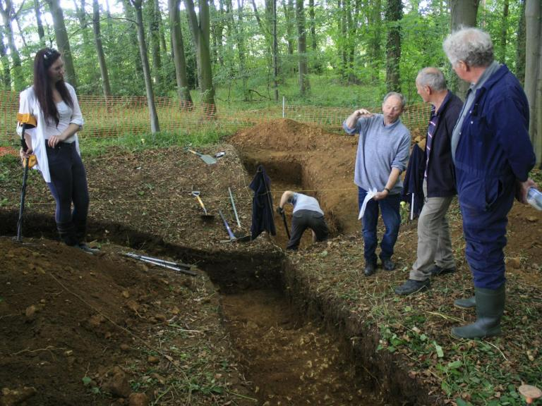 The Harthill Community dig team at work