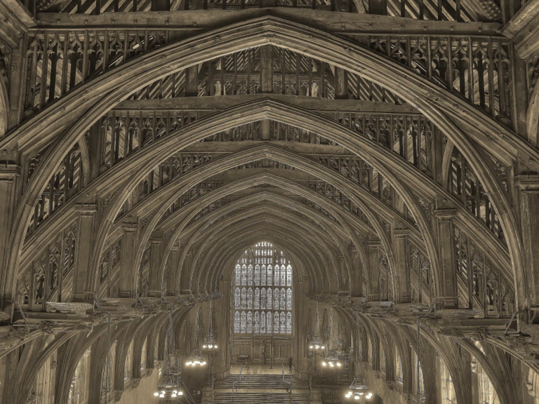 Recording the roof space in Westminster Hall