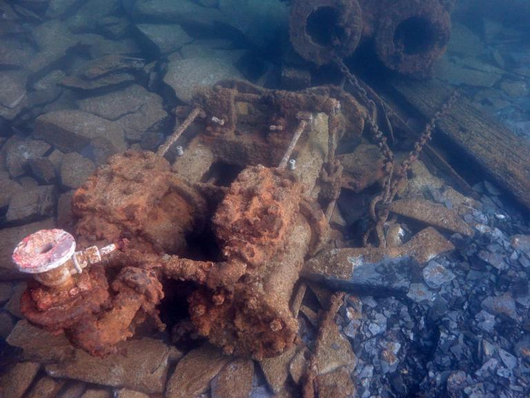 Whinch engine recorded by Wessex Archaeology divers as part of the Scottish Underwater Diving Services project