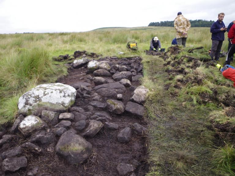 Excavations at Otterburn Camp, where Sam worked during his secondment to the Edinburgh office