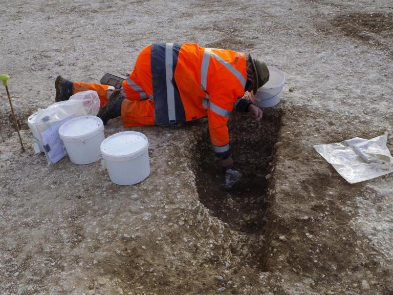 Phil Harding excavating at Bulford