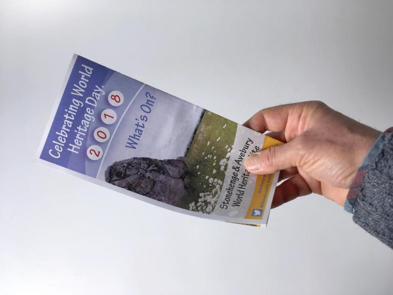 World Heritage Day leaflet