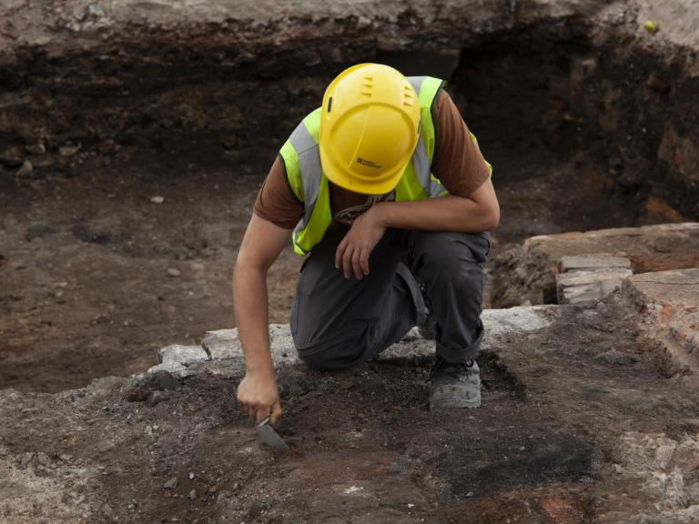 Excavations underway at Sheffield Castle - week 2